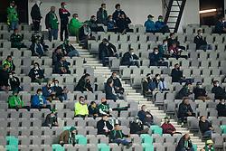 Supporters of Olimpija during football match between NK Olimpija and ND Gorica in 1st Round of Prva liga Telekom Slovenije 2020/21, on September 30, 2020 in SRC Stozice, Ljubljana, Slovenia. Photo by Vid Ponikvar / Sportida