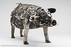 Ron Finch Pig Sculpture
