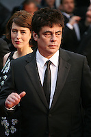 Actress Gina McKee and Actor Benicio Del Toro at the red carpet for the gala screening of Jimmy P. Psychotherapy of a Plains Indian film at the Cannes Film Festival 18th May 2013