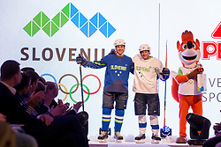 Tomaz Razingar and Benjamin Savsek at Official presentation of the Designer wear for Slovenian Athletes at PyeongChang Winter Olympic Games 2018, on December 19, 2017 in Grand Hotel Union, Ljubljana, Slovenia. Photo by Urban Urbanc / Sportida