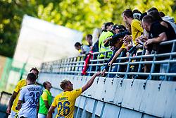 Sandi Ogrinec of NK Bravo with spectators during football match between NK Bravo and NK Koper in 4th Round of Prva liga Telekom Slovenije 2020/21, on September 19, 2020 in Sport park ZAK, Ljubljana, Slovenia. Photo by Grega Valancic / Sportida