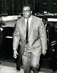 Aug. 08, 1968 - Nigerian federal minister visits the commonwealth office : Following public pressure on Mr. Wilson, Britain's prime minister to halt arms supplies to Nigeria, Chief Anthony Enahoro, the Nigerian federal Minister of Information, at present in London, today paid a visit to the commonwealth office for talks. photo shows Chief Anthony Enahoro arriving at the commonwealth office today. (Credit Image: © Keystone Press Agency/Keystone USA via ZUMAPRESS.com)
