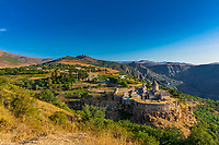 Tatev monastery panorama landscape mountains  landmark of Syunik province Armenia eastern Europe