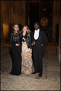 CHARLOTTE HYMAN; ALLI DAGGASH; ELEANOR DECAUX, Oxford University Polo club Ball, Blenheim Palace. Woodstock. 6 March 2015
