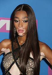 August 20, 2018 - New York City, New York, U.S. - Model WINNIE HARLOW attends the arrivals for the 2018 MTV 'VMAS' held at Radio City Music Hall. (Credit Image: © Nancy Kaszerman via ZUMA Wire)