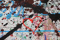 Jul. 26, 2012 - Heart shape in paint (Credit Image: © Image Source/ZUMAPRESS.com)