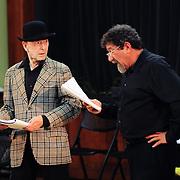 Dean Diggins (hat) and Paul Arslanian