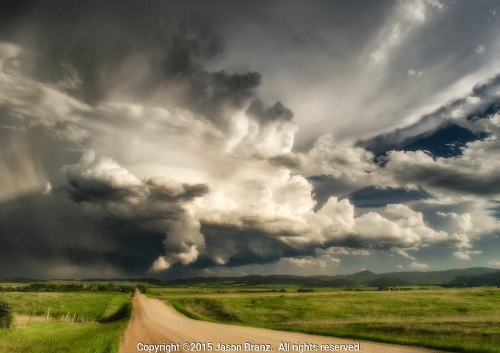 Supercell storm over the Black Hills of South Dakota.