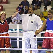 2. WOMEN'S WORLD BOXING CHAMPIONSHIPS.<br /> Swede's Laurel Anna (R) with BLR's Slavinskaia Olga (L). Dilek Sabanci Sport Hall Antalya/Turkey<br /> Photo by Aykut AKICI/TurkSporFoto
