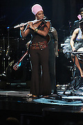 October 13, 2012- Bronx, NY: Recording Artist India.Arie performs at the Black Girls Rock! Awards presented by BET Networks and sponsored by Chevy held at the Paradise Theater on October 13, 2012 in the Bronx, New York. BLACK GIRLS ROCK! Inc. is 501(c)3 non-profit youth empowerment and mentoring organization founded by DJ Beverly Bond, established to promote the arts for young women of color, as well as to encourage dialogue and analysis of the ways women of color are portrayed in the media. (Terrence Jennings)