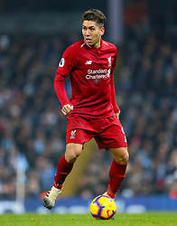 Liverpool's Roberto Firmino during the Premier League match at the Etihad Stadium, Manchester.