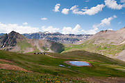 View of Yankee Boy/Governor Basin, near Ouray, Colorado, USA; August 2010