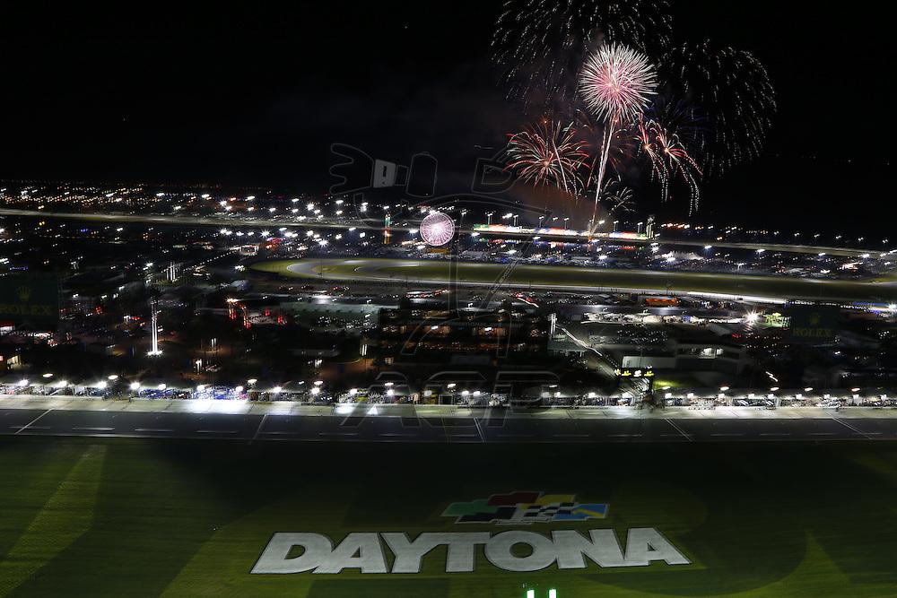 Daytona Beach, FL - Jan 30, 2016:  The IMSA WeatherTech Sportscar Championship teams take to the track for a practice session for the Rolex 24 at Daytona at Daytona International Speedway in Daytona Beach, FL.