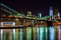 Brooklyn Bridge & Lower Manhattan on the East River, NYC
