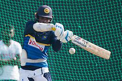 December 28, 2017 - Colombo, Western Province, Sri Lanka - Sri Lankan Opener Upul Tharanga doing his bat during the net session (Credit Image: © Sameera Peiris/Pacific Press via ZUMA Wire)