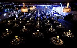 Table arrangements ahead of the 2018 PFA Awards at the Grosvenor House Hotel, London