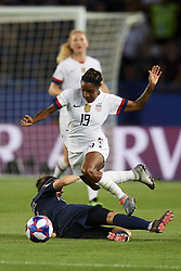 June 28, 2019 - Paris, France - Crystal Dunn (NC Courage) of United States in action during the 2019 FIFA Women's World Cup France Quarter Final match between France and USA at Parc des Princes on June 28, 2019 in Paris, France. (Credit Image: © Jose Breton/NurPhoto via ZUMA Press)