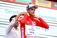 Podium, Rudy Molard (FRA - Groupama - FDJ), red jersey, during the UCI World Tour, Tour of Spain (Vuelta) 2018, Stage 8, Linares - Almaden 195,1 km in Spain, on September 1st, 2018 - Photo Luca Bettini / BettiniPhoto / ProSportsImages / DPPI