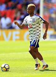 """Chelsea's Charly Musonda before the Community Shield at Wembley, London. PRESS ASSOCIATION Photo. Picture date: Sunday August 6, 2017. See PA story SOCCER Community Shield. Photo credit should read: Nigel French/PA Wire. RESTRICTIONS: EDITORIAL USE ONLY No use with unauthorised audio, video, data, fixture lists, club/league logos or """"live"""" services. Online in-match use limited to 75 images, no video emulation. No use in betting, games or single club/league/player publications."""
