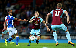 Scott Arfield of Burnley takes on Elliott Bennett of Blackburn Rovers - Mandatory by-line: Matt McNulty/JMP - 23/08/2017 - FOOTBALL - Ewood Park - Blackburn, England - Blackburn Rovers v Burnley - Carabao Cup - Second Round