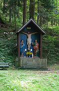 Austria, Tyrol  Zillertal forest near Mayrhofen Crucifix
