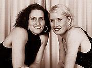 2001 BIRO Team Party Twickenham, ENGLAND, .  © Peter Spurrier<br />Miriam Batten [left] Gillian Lindsay [Mandatory Credit:Peter SPURRIER/Intersport Images] 2002 0322 British International Rowing Team Party. RFU Stadium, Rose Room Twickenham UK