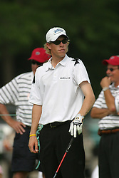 28 June 2005<br /> <br /> David Hearn on the 1st tee.<br /> <br /> Tuesday practice session at the 2005 Cialis Western Open. Dubsdread, Cog Hill Golf Course, Lemont, IL