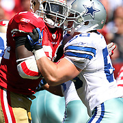 Dallas Cowboys inside linebacker Sean Lee (50)  during an NFL football game between the Dallas Cowboys and the San Francisco 49ers at Candlestick Park on Sunday, Sept. 18, 2011 in San Francisco, CA.   (Photo/Alex Menendez)