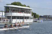 Henley, GREAT BRITAIN. Wyfold Challenge Cup. Tideways Scullers School. New Floating Grandstand  17:28:09, Wednesday  30/06/2010 [Mandatory Credit: Peter Spurrier / Intersport-images] Rowing Courses, Henley Reach, Henley, ENGLAND . HRR.