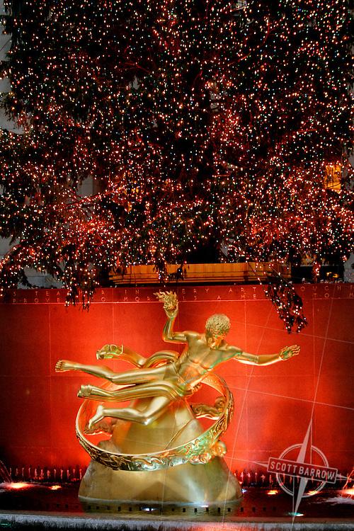 Prometheus at Rockefeller Center at Christmas, NY,NY.