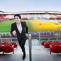 Nederland, Alkmaar , 16 januari 2012..Oud tennisser John van Lottum (in pak) is tegenwoordig werkzaam op de afdeling Sales (Commercie) van het AZ-Stadion..Foto:Jean-Pierre Jans