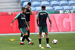 September 6, 2018 - Na - Loulé, 05/09/2018 - National Team AA: Preparation for the League of Nations: Adaptive training for the preparation match with Croatia at the Estádio Algarve. Sérgio Oliveira; Luis Neto; Gedson; (Credit Image: © Atlantico Press via ZUMA Wire)