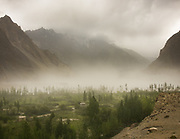 A dust storm over Passu village.