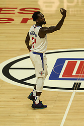 December 17, 2018 - Los Angeles, CA, U.S. - LOS ANGELES, CA - DECEMBER 17: Los Angeles Clippers Guard Patrick Beverley (21) telling a teammate to come back during the Portland Trail Blazers at Los Angeles Clippers NBA game on December 17, 2018 at Staples Center in Los Angeles, CA.. (Photo by Jevone Moore/Icon Sportswire) (Credit Image: © Jevone Moore/Icon SMI via ZUMA Press)