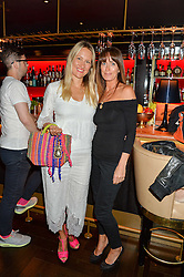 Left to right, Tiffany Moody & Emma Travers at the launch of Giovanni's Gin Joint at Quaglino's, 16 Bury Street, London on 13th July 2016.