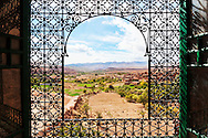 View of the village Telouet from the Kasbah Telouet in Morocco.