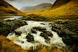 The river Etive in speight as it flows through Glen Etive, Highlands of Scotland<br /> <br /> (c) Andrew Wilson | Edinburgh Elite media