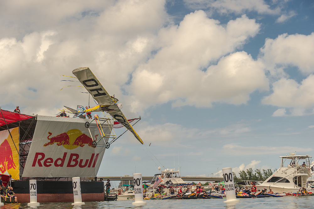 Team Sweetwater competes the Red Bull Flugtag in Miami, FL, USA, on 21 September 2013.