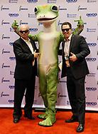 Berkshire Hathaway shareholders pose with the Geico mascot at the Berkshire Hathaway annual meeting in Omaha, Nebraska, U.S. May 6, 2017. REUTERS/Rick Wilking