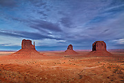 The Mittens from the View Hotel at Monument Valley, Arizona.