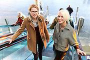 's-HERTOGENBOSCH  vnl.. Michelle Haak en Emmy van Thiel. Michelle en Emmy zijn grafisch ontwerpsters en hebben het nieuwe logo bedacht voor het Amphia Ziekenhuis (Breda-Oosterhout).