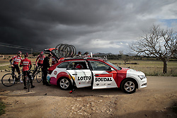 December 15, 2017 - Manacor, Espagne - MANACOR, SPAIN - DECEMBER 15 : Illustration picture of a team car pictured during the training camp of the Lotto Soudal cycling team on December 15, 2017 in Manacor, Spain, 15/12/17 (Credit Image: © Panoramic via ZUMA Press)