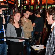 NLD/Hilversum/20120105 - Bekendmaking deelnemers Nationaal Songfestival 2012, John de Mol Jr. in gesprek met de pers