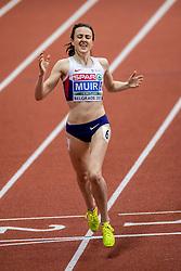 05-02-2017  SRB: European Athletics Championships indoor day 3, Belgrade<br /> Laura Muir, de Schotse bewees in Belgrado op dit moment een van de beste Europese loopsters te zijn op de middenafstand. Ze pakte goud op de 3000 meter
