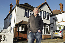 © Licensed to London News Pictures. 06/01/2012. Bromley, London. Graham King from Bromley, London who is giving away his house in a prize draw competition. Frustrated after months of being unable to sell his £650,000 family home because of the current economic climate,  Graham and wife Pamela  have set up a website so that people can purchase tickets for the competition at £30 each, while viewing the property.   The competition which is due to start this week will run until June 26 2012. Mr King needs to sell 25.000 tickets for the prize draw to go ahead. If few than 23,400 tickets are sold a cash prize will be given to the winner instead. **CONTACT DETAILS AVAILABLE, CALL 02083544272** Photo credit : Grant Falvey/LNP