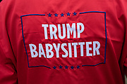 The Trump Baby and babysitters, a six metre high inflatable blimp flying above Westminster prior to protests against the state visit of US President Donald Trump on 4th June 2019 in London, United Kingdom. Organisers Together Against Trump which is a collaboration between the Stop Trump Coalition and Stand Up To Trump, have organised a carnival of resistance, a national demonstration to protest against President Trump's policies and politics during his official UK visit.