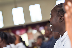 4 November 2019, Vriginia, Liberia: A student smiles. The Liberia Baptist Convention runs Ricks Institute, a day and boarding school for currently 496 students from kindergarten up through 12th grade.