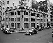 Y-480803A-01. Hibernia Bank, on NE corner of SW Washington & 4th. August 3, 1948.