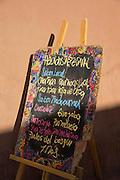 Restaurant Sign, in San Pedro de Atacama, Atacama Desert, Chile, South America
