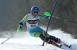 Matic Skube at first run of 9th men's slalom race of Audi FIS Ski World Cup, Pokal Vitranc,  in Podkoren, Kranjska Gora, Slovenia, on March 1, 2009. (Photo by Vid Ponikvar / Sportida)